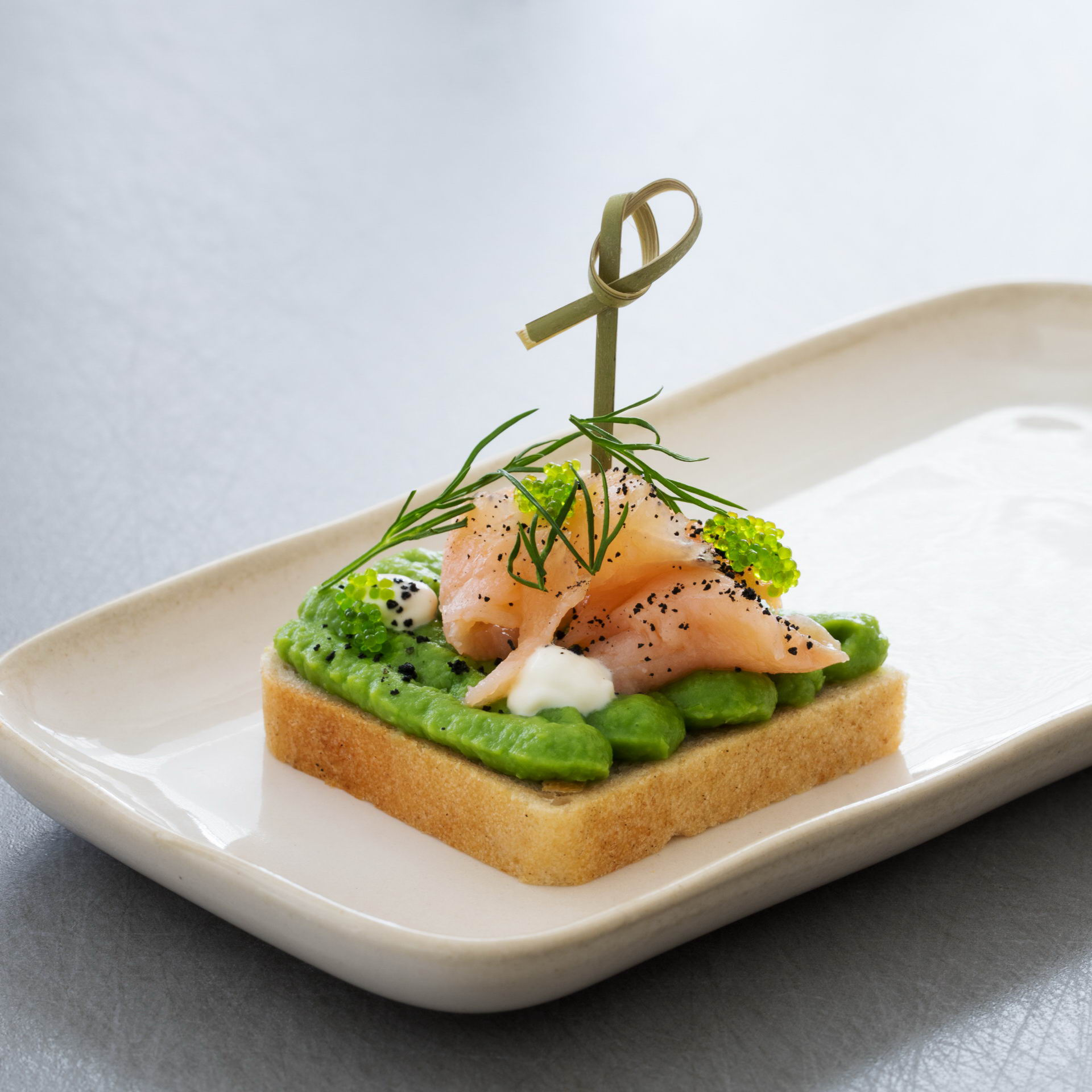 Canapé with smoked salmon